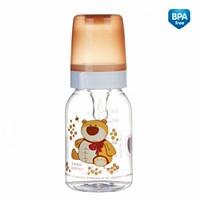 Бутылка 120 мл с рисунком (BPA FREE), коллекция Веселые зверюшки Canpol Babies (11/851)