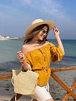 Жіноча стильна пляжна сумка, фото 1