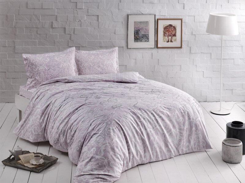 Двуспальный евро комплект TAC Castillo Lilac Сатин