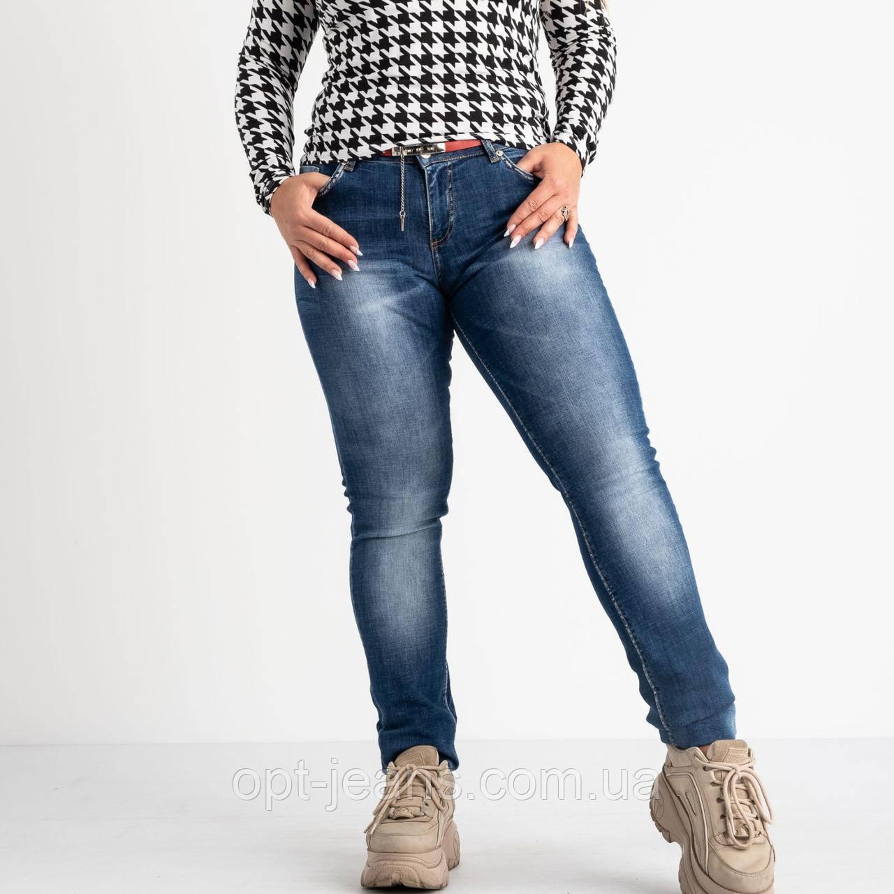 1358-B-481 A.N.G джинсы полубатальные синие стрейчевые (6 ед. размеры: 28.29.30.31.32.33)