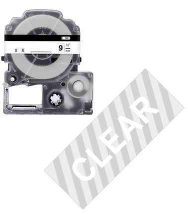 Лента для принтера этикеток Epson LabelWorks LK3TWN Clear Wh/Clear 9/8, фото 2