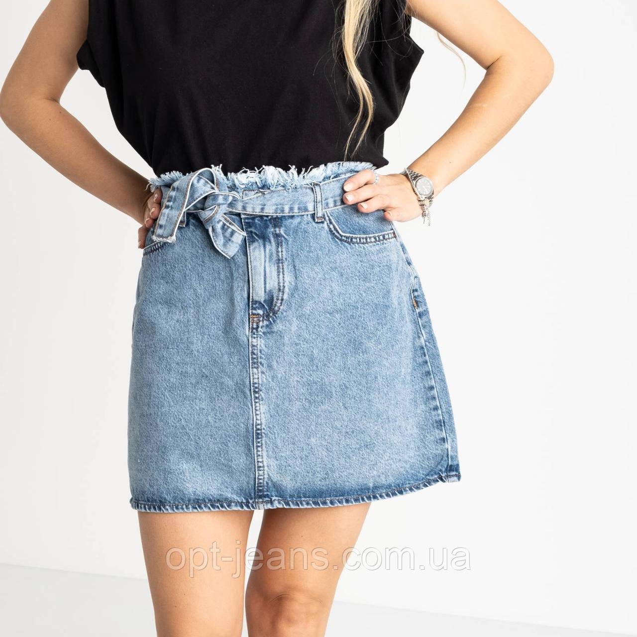 0028-142 Arox юбка полубатальная голубая котоновая (6 ед. размеры: 42.44.46.46.48.50)