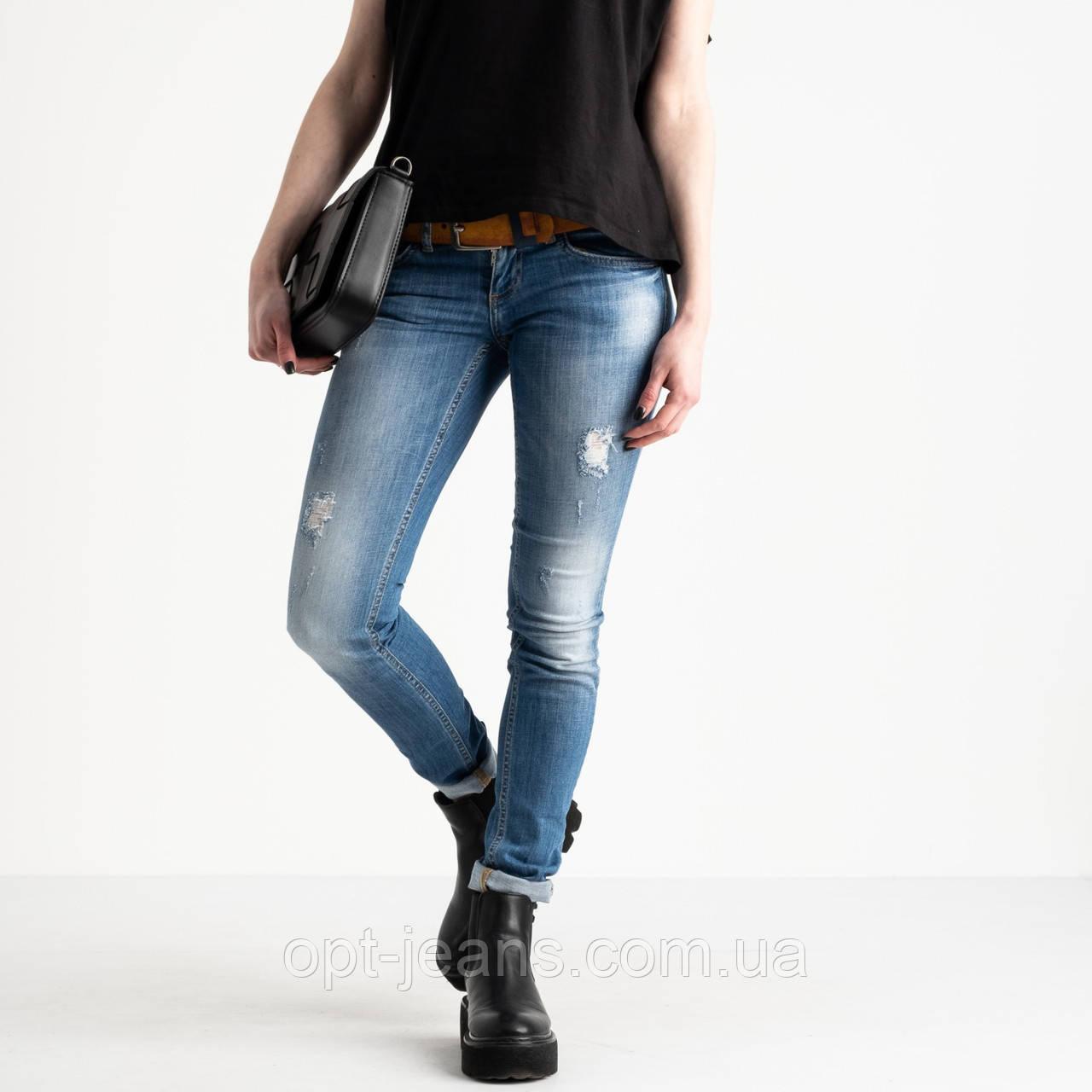 9365-581 Colibri джинси жіночі блакитні стрейчеві (6 од. розміри: 25.26.27.28.29.30)