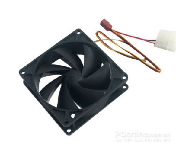 Вентилятор PCCooler F122 (16398), 120х120х25мм, 3-pin+Molex, Black