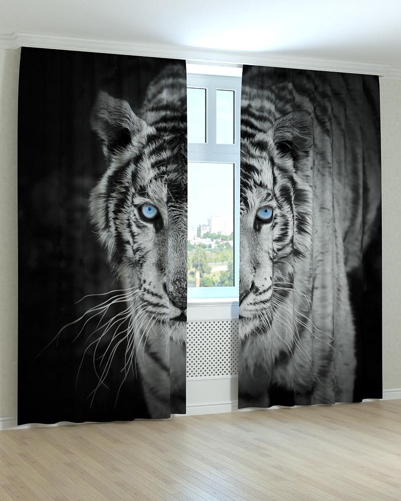 Фотошторы білий тигр