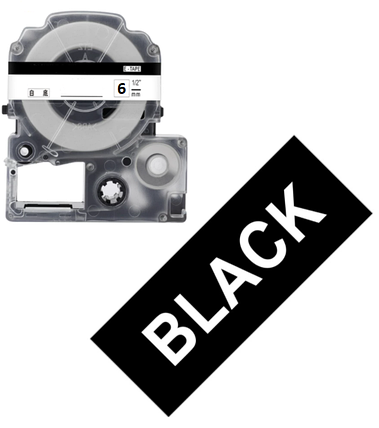 Лента для принтера этикеток Epson LabelWorks LK2BWV Vivid White/Black 6/8, фото 2