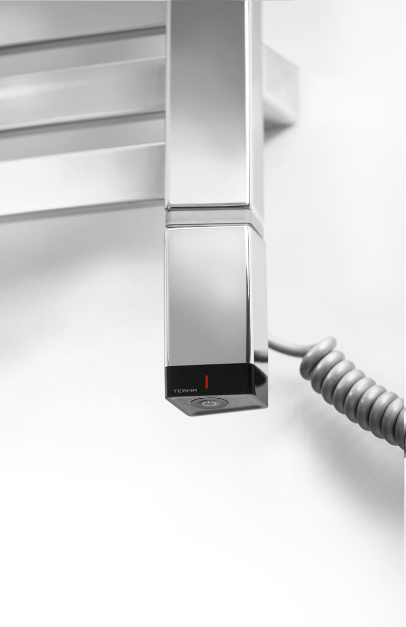 Сталевий електротена TERMA ONE профіль Трапеція 36х40: регулятор + таймер 2 ч.+ LED, під пульт ДУ. Хром. Польща