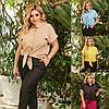 Р 48-58 Блуза-рубашка с завязками Батал 23776