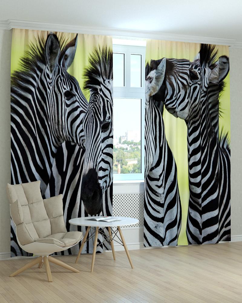 Фотошторы зебры