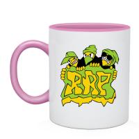 Керамическая Чашка  двухцветная принт Злой RAP