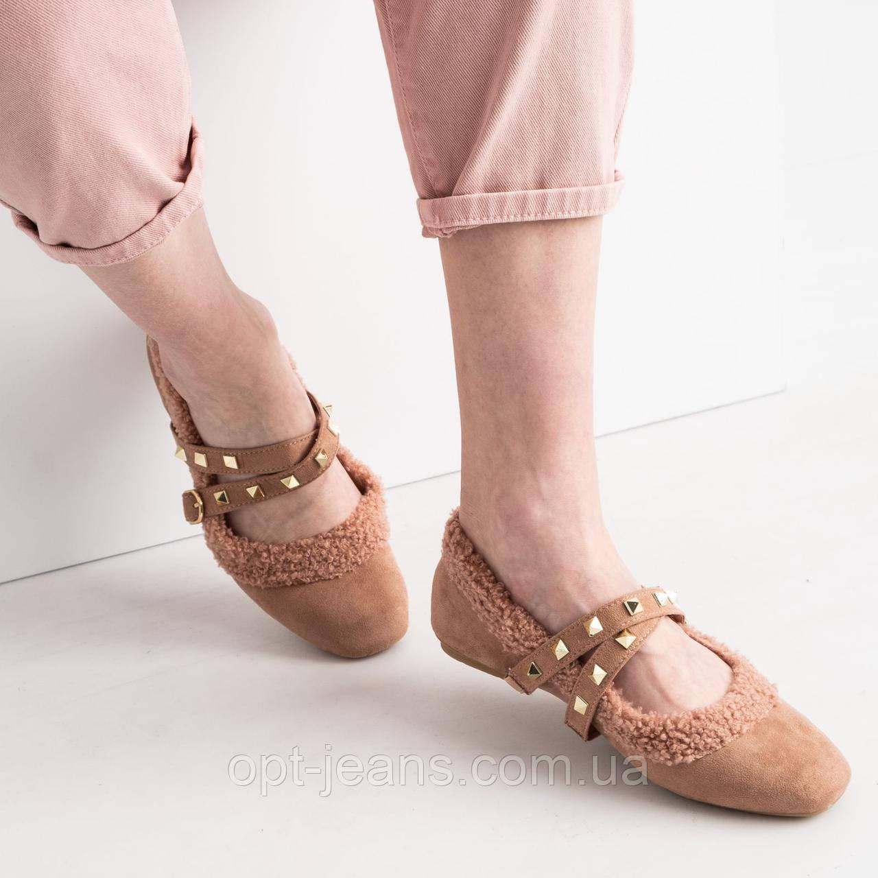 0155 Girnaive рожеві балетки замшеві (6 од. розміри: 36.37.38.39.40.41)