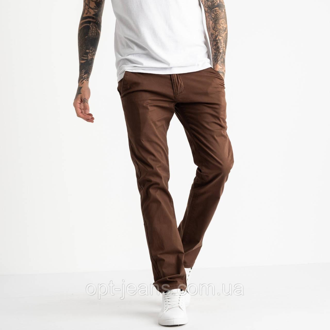 5768 LS брюки чоловічі темно-коричневі стрейчеві (7 од. розміри: 28.29.30.31.32.33.34)
