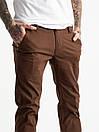 5768 LS брюки чоловічі темно-коричневі стрейчеві (7 од. розміри: 28.29.30.31.32.33.34), фото 4