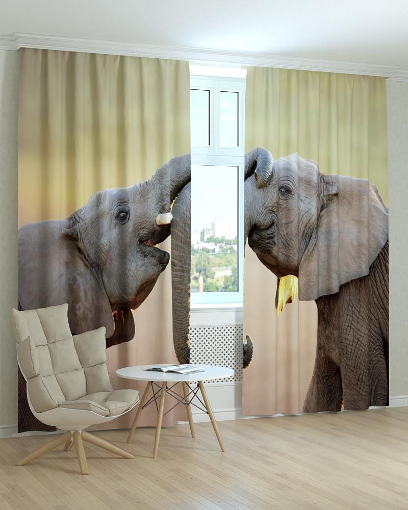 Фотошторы два слона