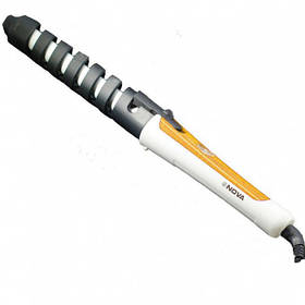 Плойка Nova NHC-5377 спираль (Yellow Black) | Спиральная плойка для завивки волос