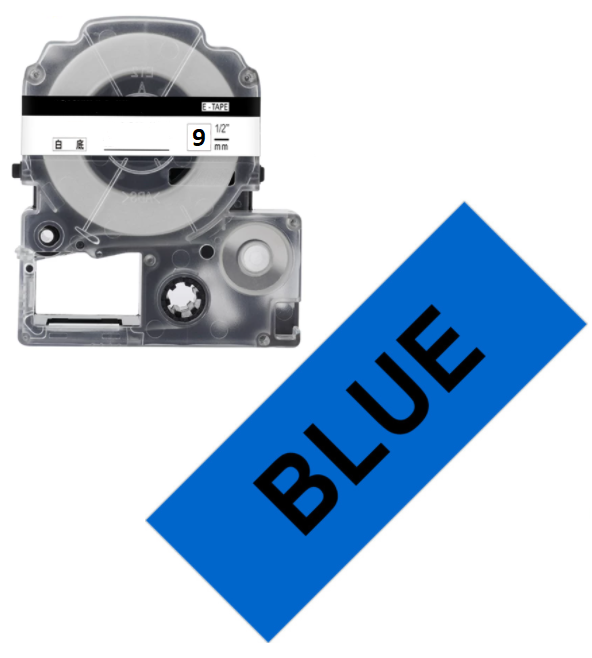 Лента для принтера этикеток Epson LabelWorks LK3LBP Pastel Blk/Blue 9/8