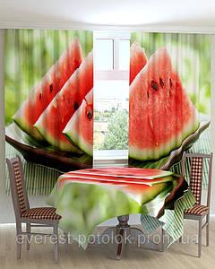 Фотошторы для кухни арбуз