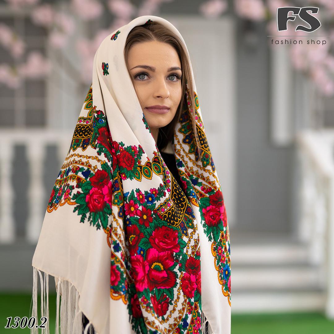 Українська народна шерстяна хустина Квіти України