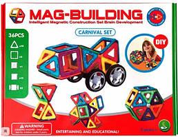 Детский магнитный конструктор Mag-Magnet на 36 детали