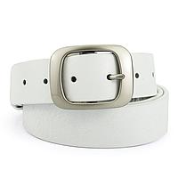 Ремень женский кожаный под джинсы белый  JK-3517 white (125 см), фото 1