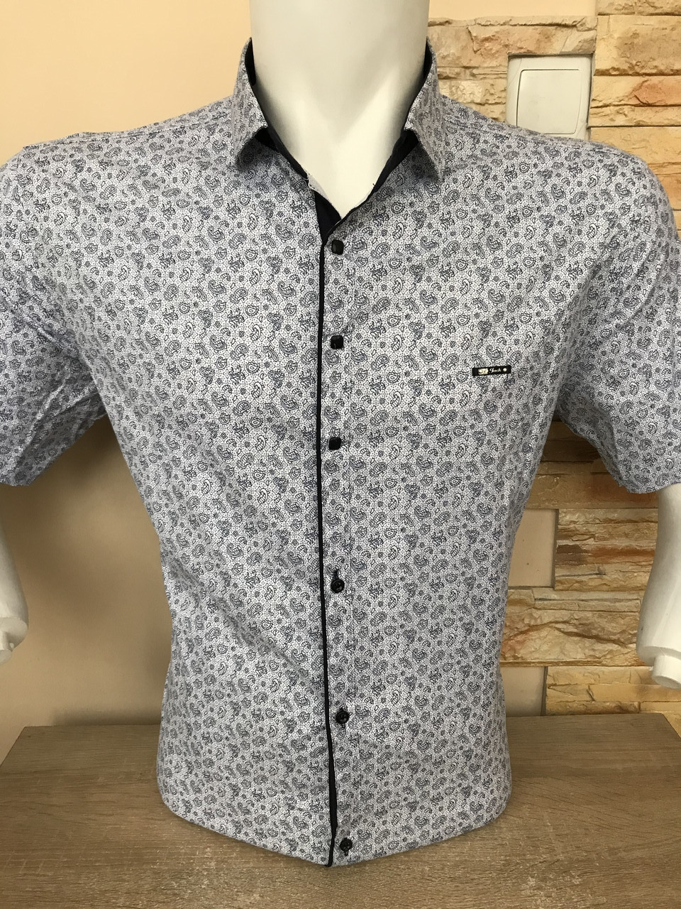 Чоловіча сорочка з коротким рукавом Paul Jack з принтом