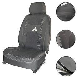 """Чехлы на сиденья Mitsubishi Lancer X (об.1,5) 2007- / автомобильные чехлы Митсубиси Лансер Х """"Nika"""""""