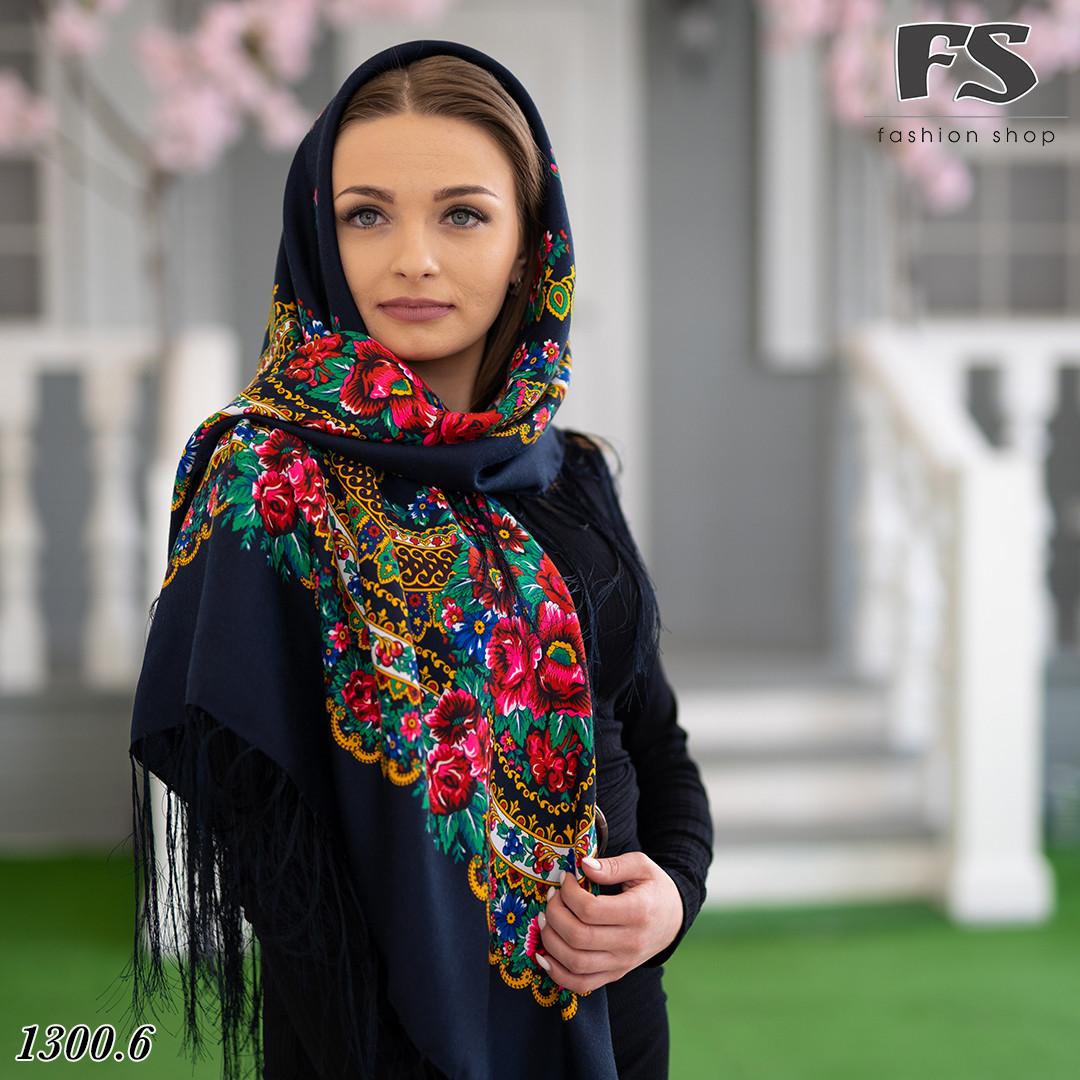Українська народна шерстяна  хустина Квіти України!