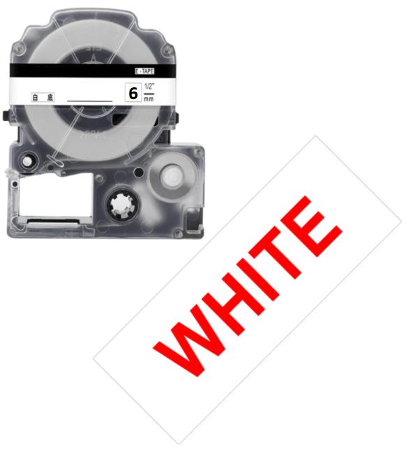 Лента для принтера этикеток Epson LabelWorks LK2WRN Std Red/Wht 6/8