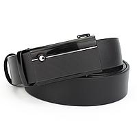 Ремень мужской кожаный на автомате черный KB-3512 black (130 см), фото 1