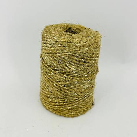 Шпагат з льону армований 100 г, фото 2