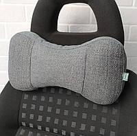 Подушка для шеи на подголовник EKKOSEAT в машину - трёхсекционная, Серая, Черная, Бежевая, Коричневая