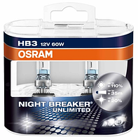 Автолампа HB3  галогеновая 60W Osram 9005 Night Breaker Unlimited 2 шт.