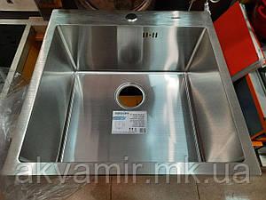 Мойка кухонная ZEGOR ML-5151ST врезная 2,5/1.0 мм (нерж. сталь)