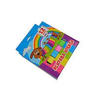 Мел школьный цветной, 12 шт., 12х12х75 мм, картонная коробочка