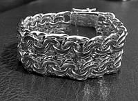 Серебряные мужские браслеты