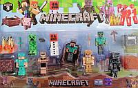 Набор героев фигурок Minecraft Майнкрафт P 19277