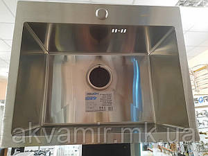 Мойка кухонная ZEGOR ML-5343ST врезная 2,5/1.0 мм (нерж. сталь)