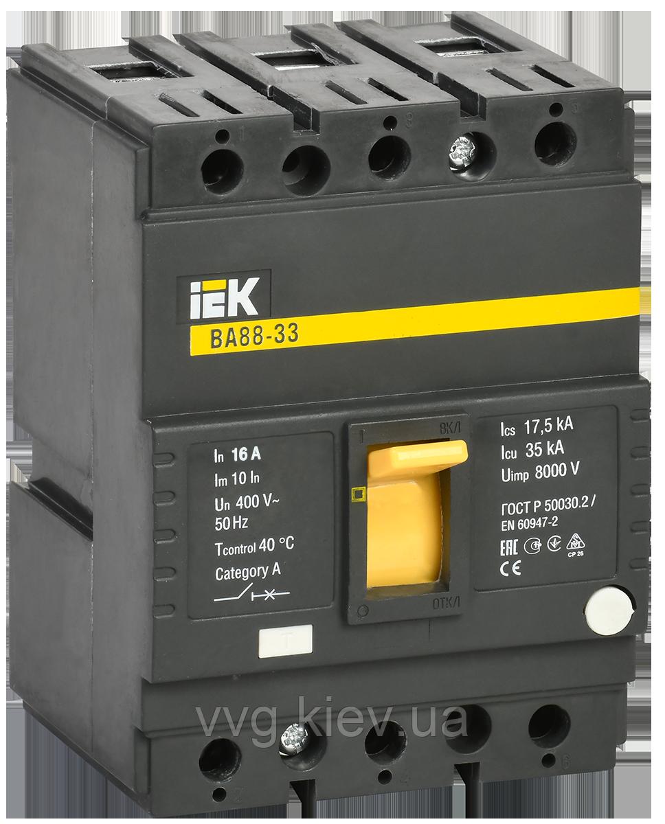 Автоматичний вимикач ВА88-33 3Р 16А 35кА IEK (SVA20-3-0016)