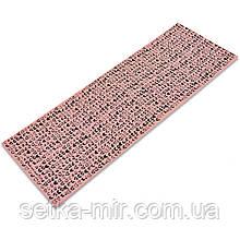 Коврик для йоги и фитнеса PVC двухслойный 4мм SP-Planeta CLOTH FI-0183 цвета в ассортименте, Пудровый