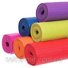 Коврик для фитнеса и йоги PVC 4мм SP-Planeta FI-4986 цвета в ассортименте