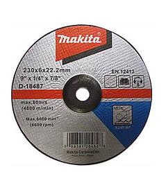 Круг зачистной по металлу Makita D-18487 A24R (230*6,0*22,23мм)