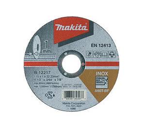 Круг отрезной по нержавейке Makita B-12217 A60T (115*1*22,23мм)