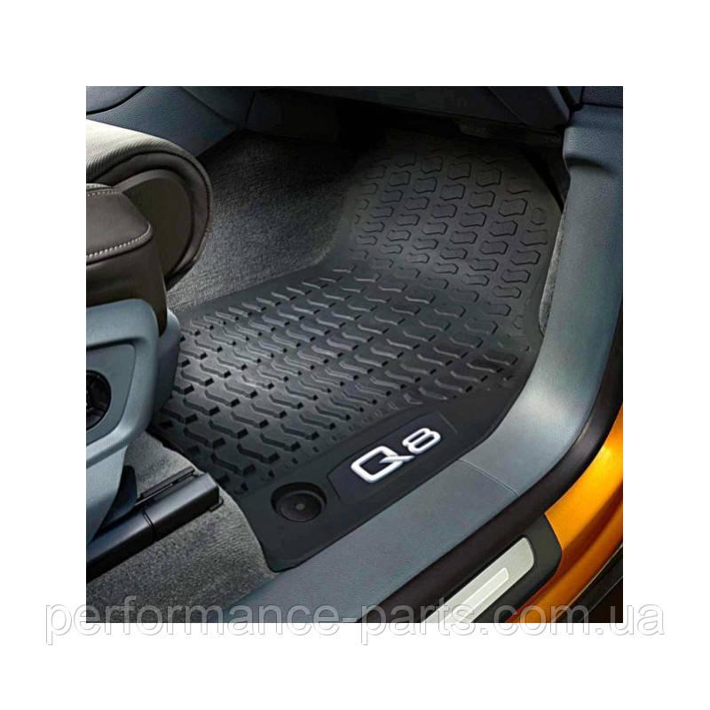 Коврики салону гумові передні Audi Q8 2019-. 4M8061501041. Оригінал.