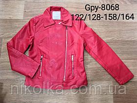 Куртки кожзам для девочек оптом, Glo-story, 122/128-158/164 рр., арт. GPY-8068