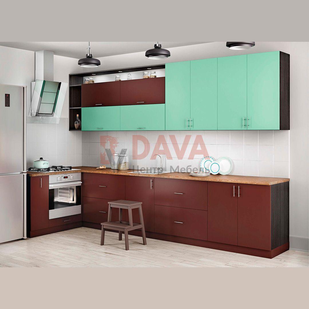 Кухня современного стиля Киевский Стандарт. Крашенные фасады МДФ. Набор 9