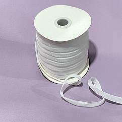 Стрічка оксамитова 1 см біла