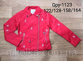 Куртки кожзам для девочек оптом, Glo-story, 122/128-158/164 рр., арт. GPY-1123