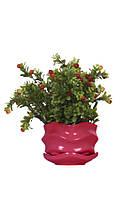 Горшок цветочный ETERNA PT 201-0,9 JB сочная ягода (13*13*9 см)