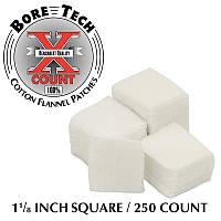 """Патчі для чищення Bore Tech .22 квадратні 1 1/8 """". Бавовна. 250 шт"""