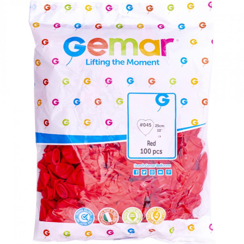 Кульки «Серце» пастель червоний CR/45 56451